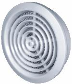 80mm Hole White Round Door Air Vent Grille Woodwork Furniture