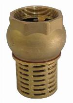 2 Inch Check Foot Valve Female Suction Non Return Valve For Pumps Brass