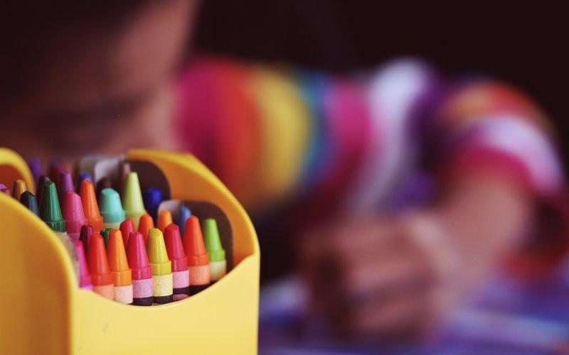 Children's crayons