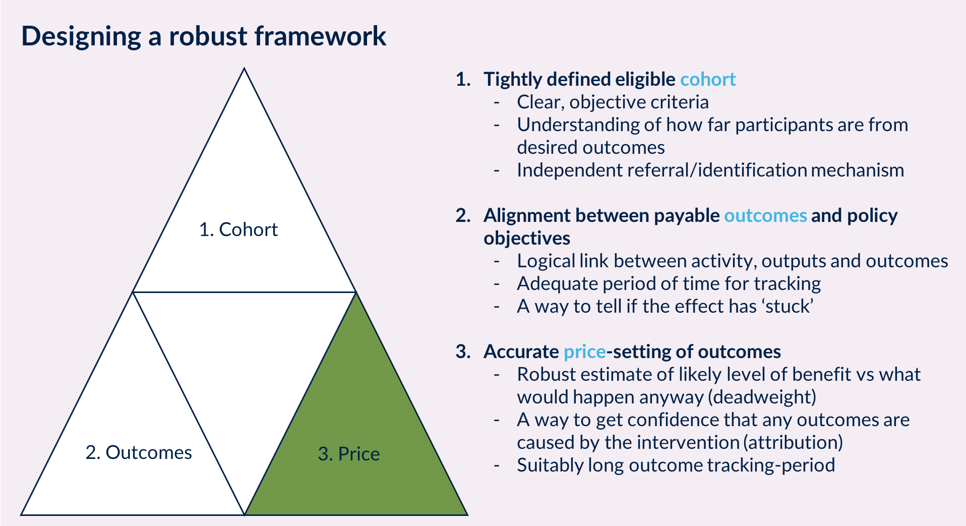 Designing a robust outcomes framework