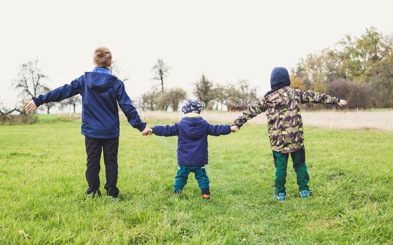 Children work together