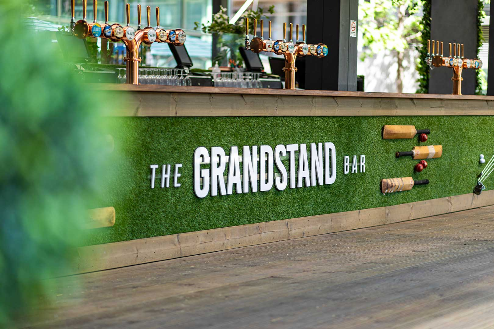 The Grandstand Bar. Summer Bar in Canary Wharf.
