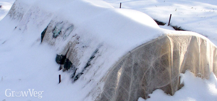 Row cover snow