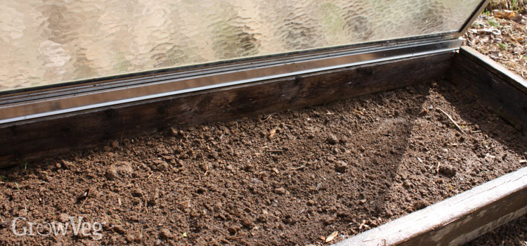 Warming soil with a cold frame