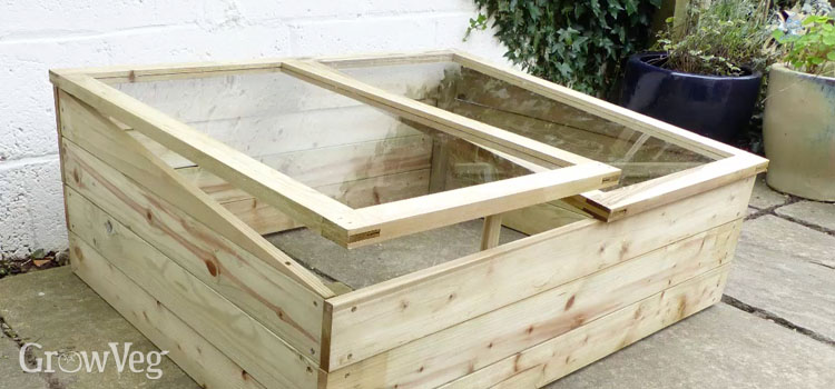 Homemade cold frame