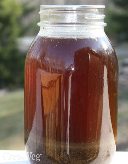 A quart batch of homemade fertilizer