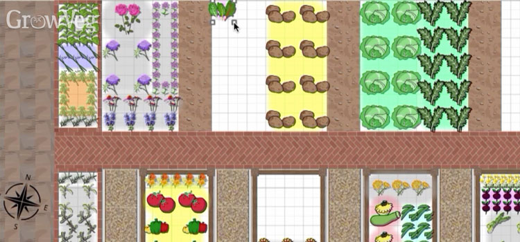 Filling gaps using the Succession Planting feature in the Garden Planner