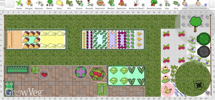 Garden plan made using the Garden Planner