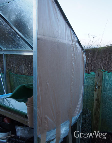 Temporary repair to greenhouse
