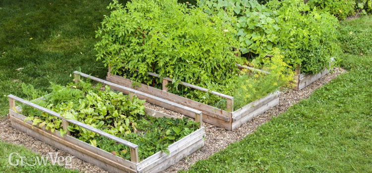 Recycled raised beds