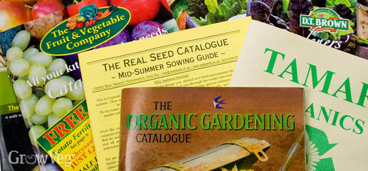 A selection of vegetable seed catalogues from the UK