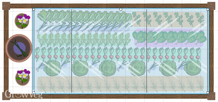 Garden Planner spring salad plan