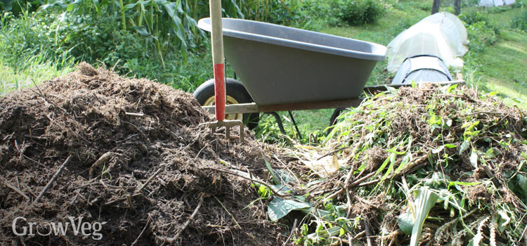 Compost made using the seasonal weather changes and waste from harvesting produce