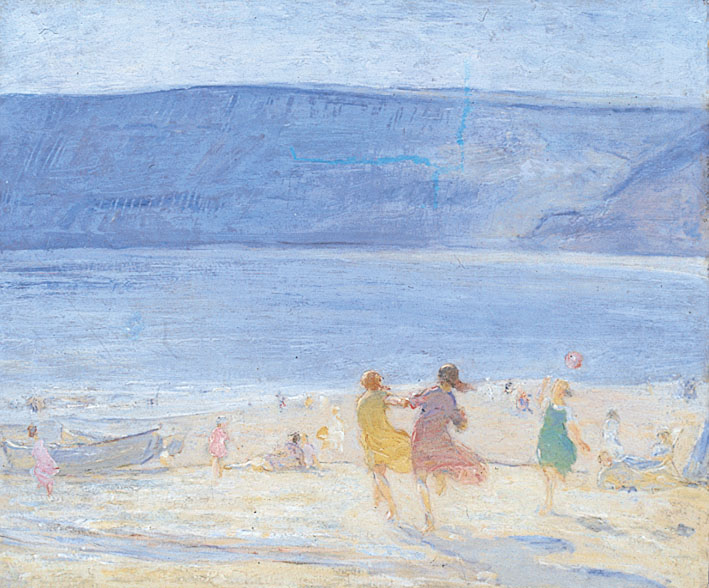 The Beach, Runswick, oil on canvas, by Florence Hess