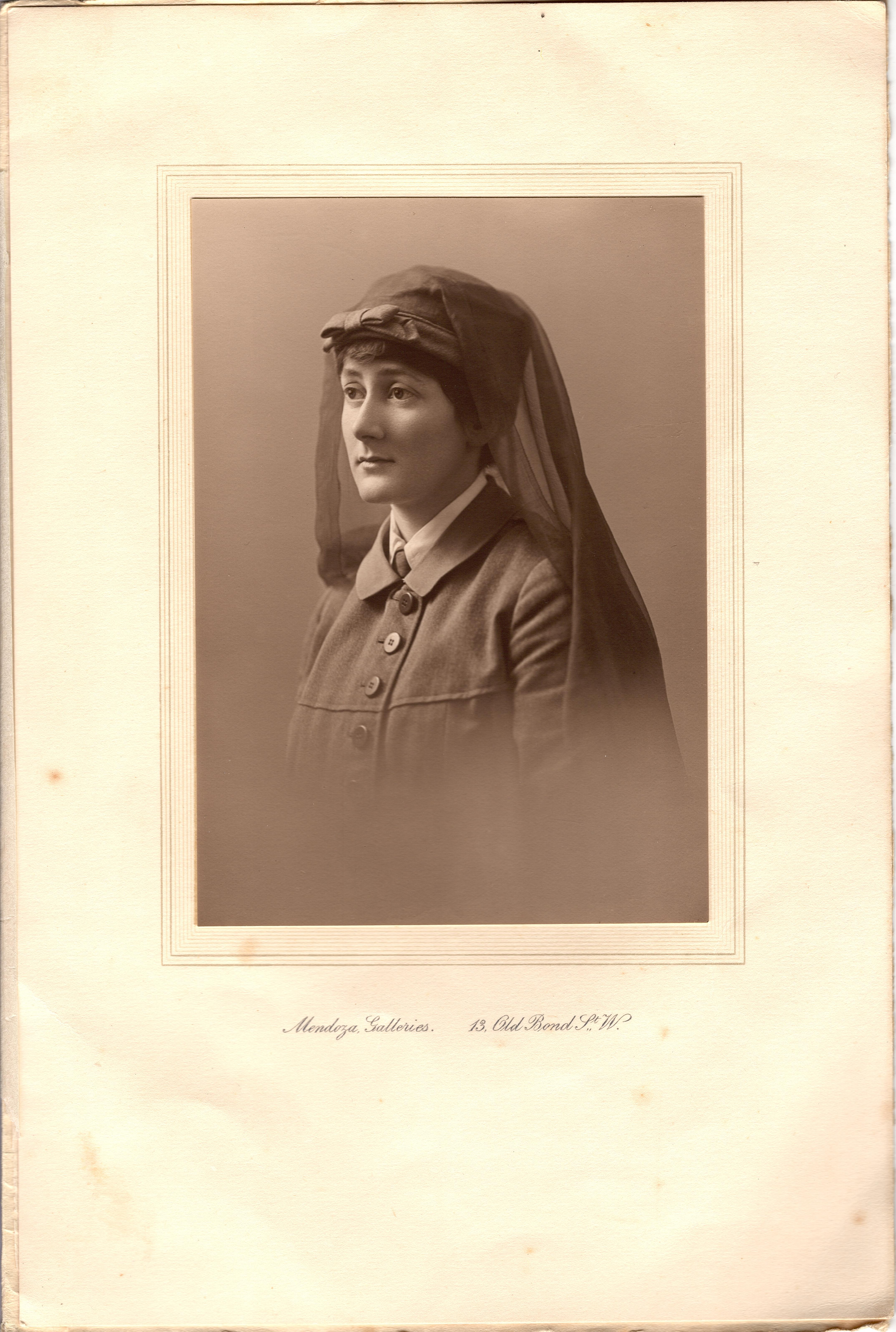 Black and white photograph of Nina Last in her uniform