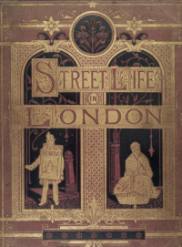 Colour photograph showing the front of a printed publication with two figures on the cover. The words 'Street life of London' are printed.