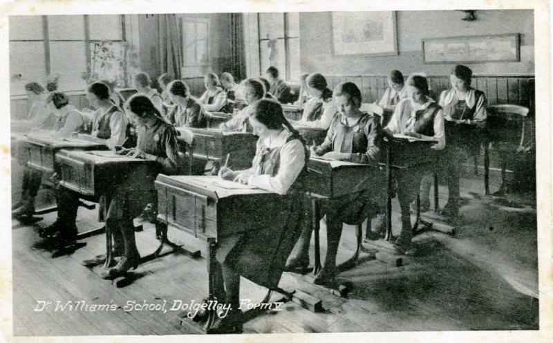Girls working at Dr Williams' School Dolgellau c.1920