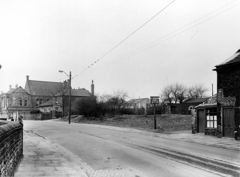 Beeston School, Leeds 1955 and K. Burtons, Plumbers on Town Street, Beeston