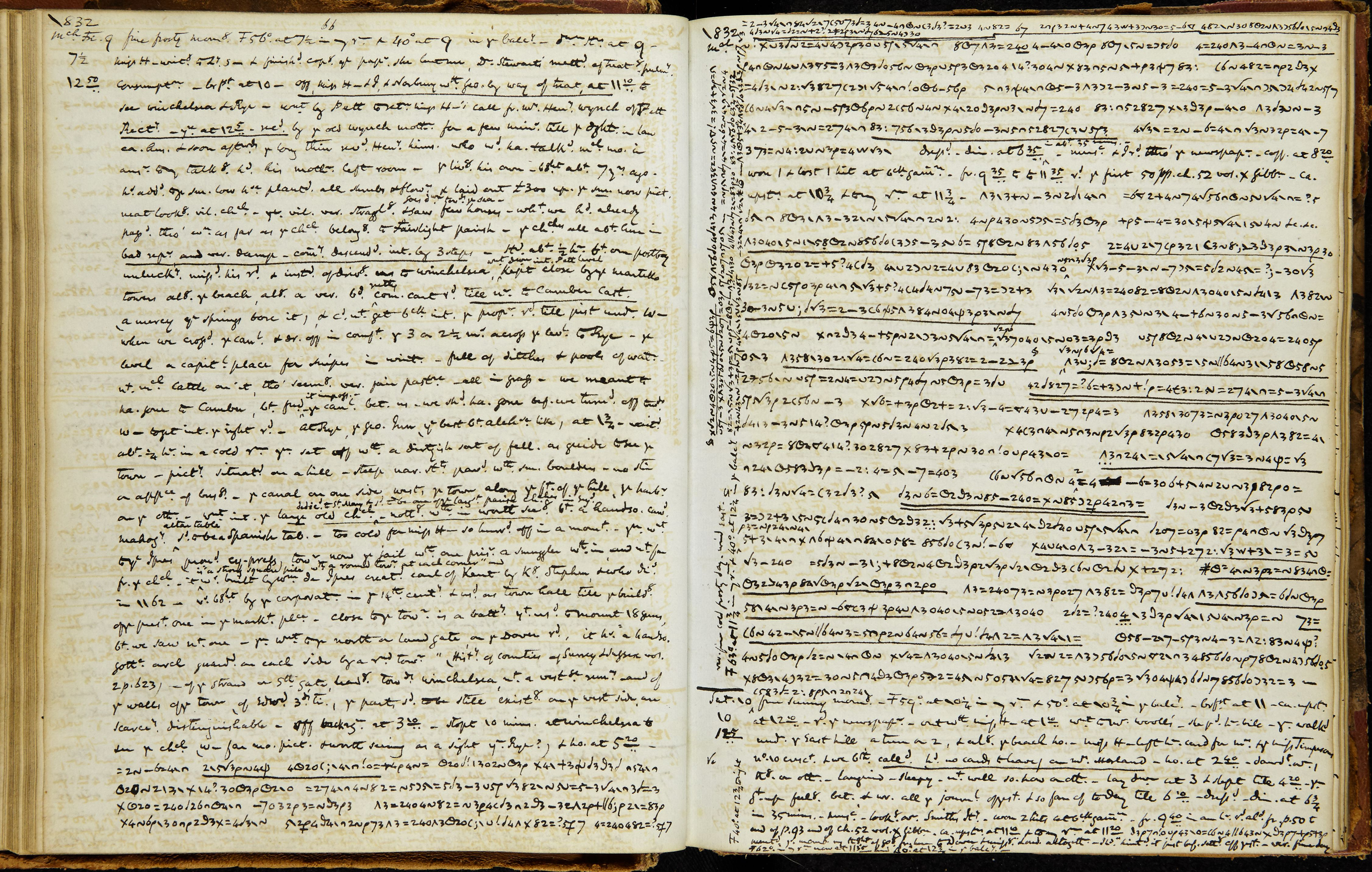 A page from Anne Lister's Diary