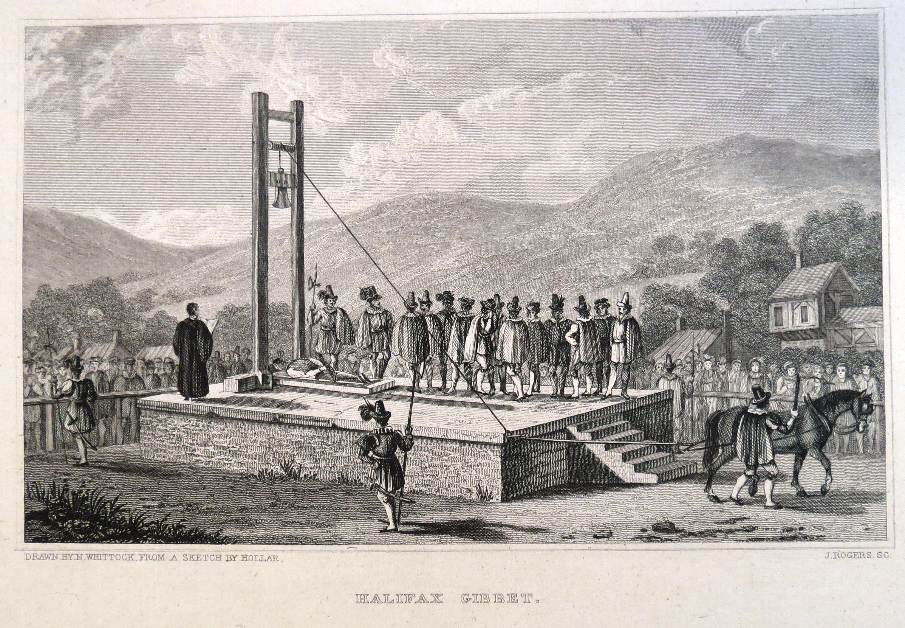 Drawing of the Halifax Gibbet