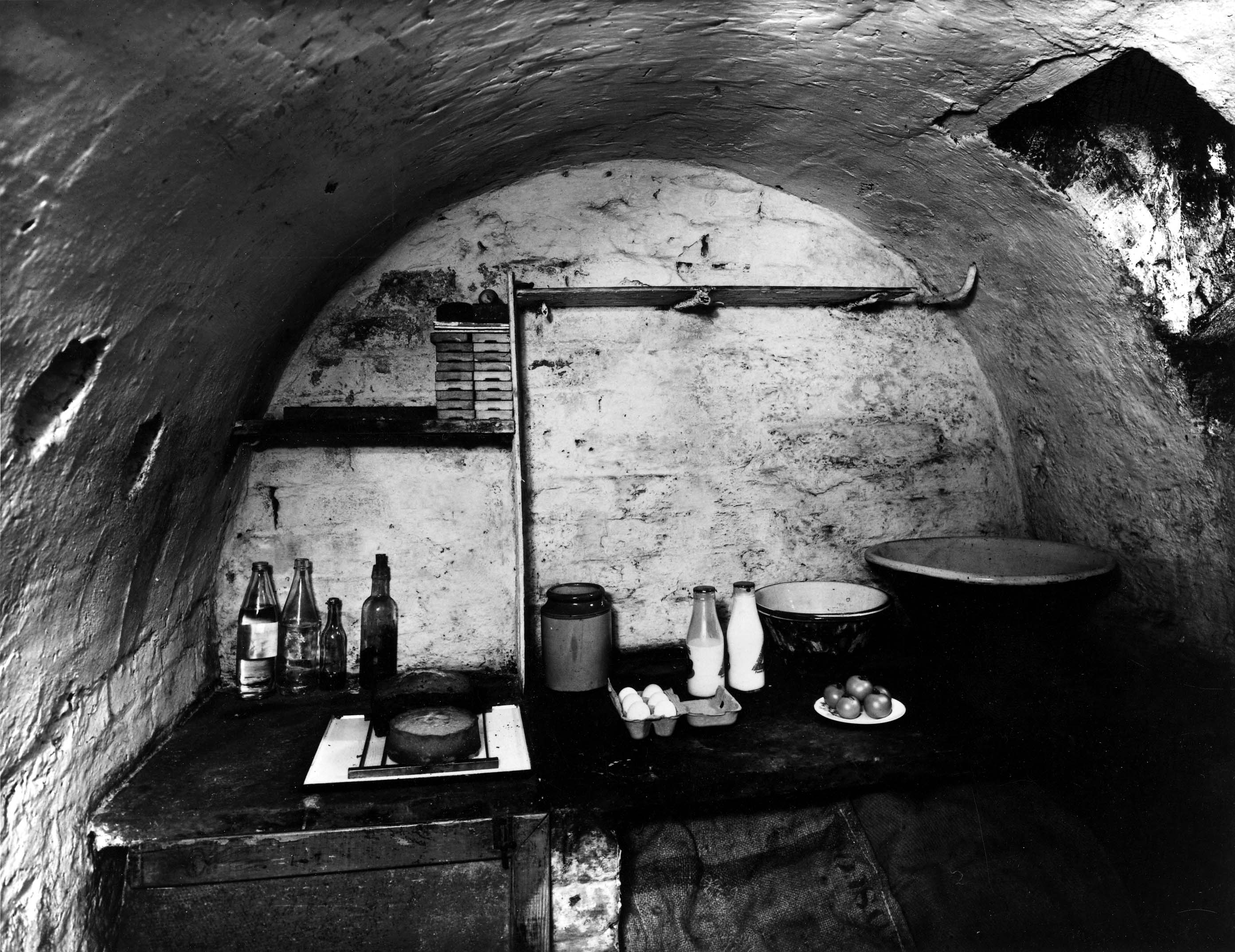 Cellar of Back-to-Back House Used as Pantry