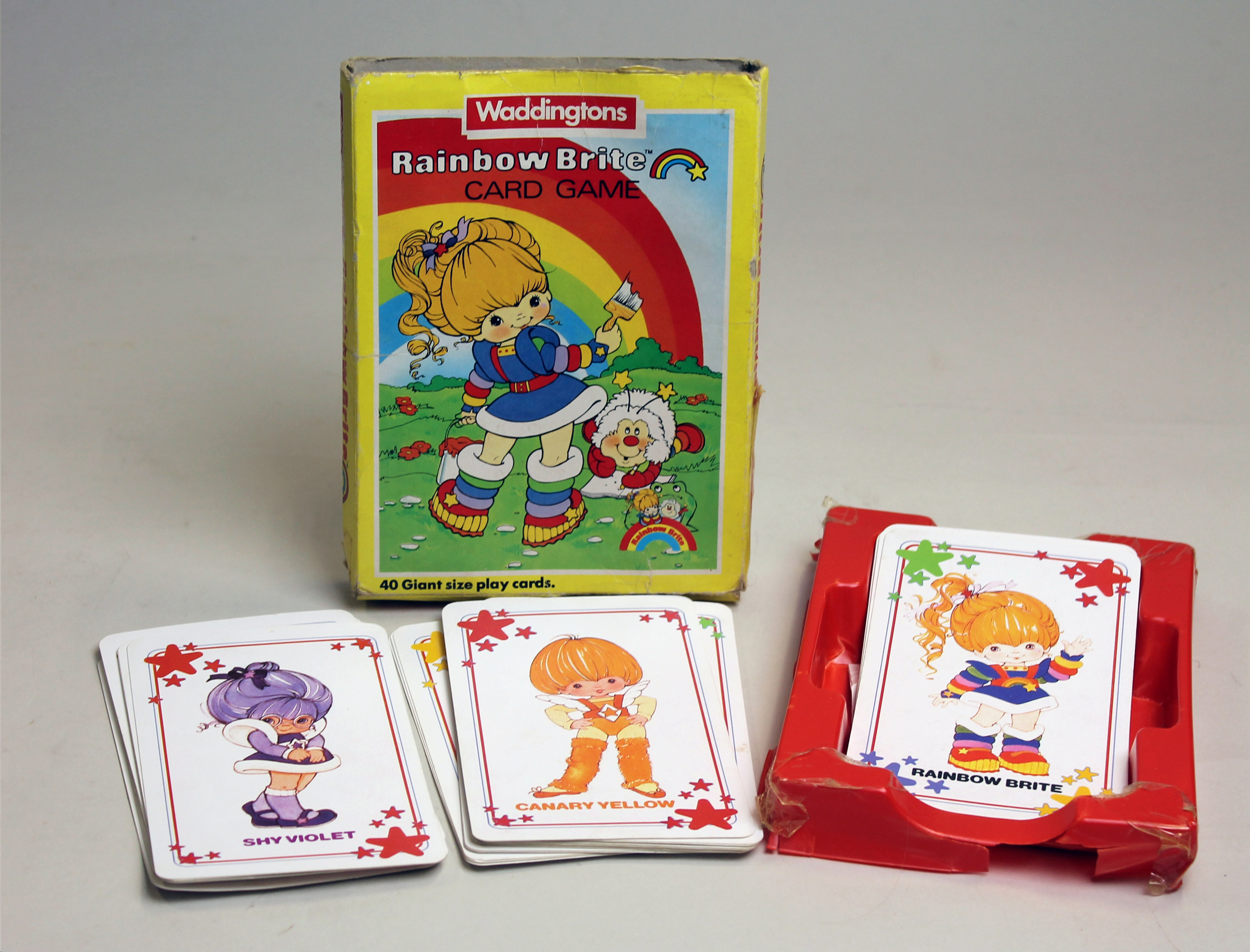 Colour photograph of a Rainbow Brite card game from Waddingtons