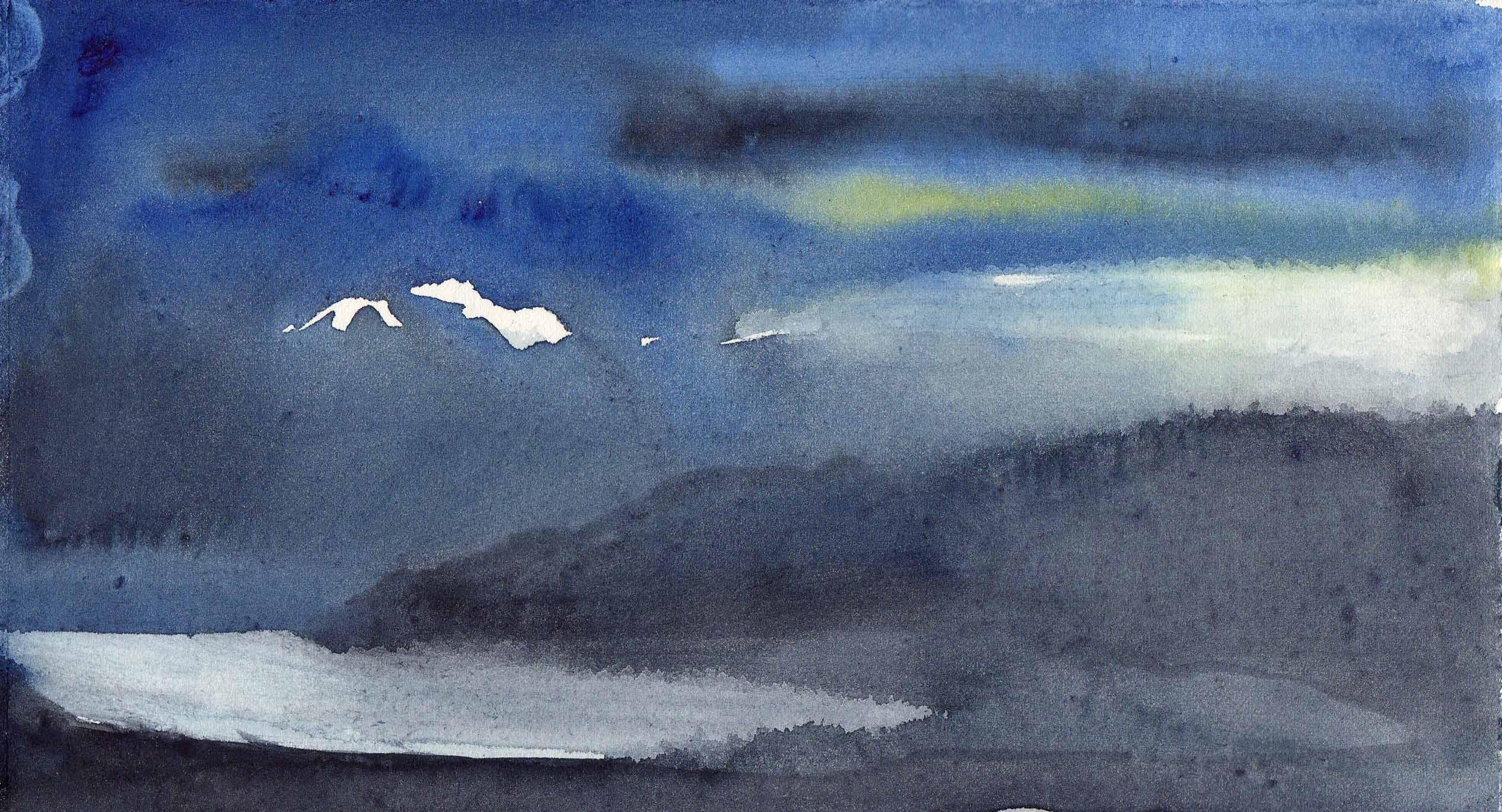 Seascape Sketch by Kyra Cane