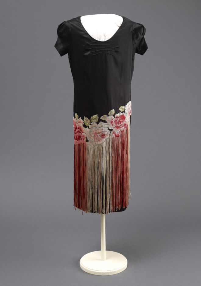 A Passion For Fashion Madame Clapham Revisited Front View Of Rose Evening Dress A