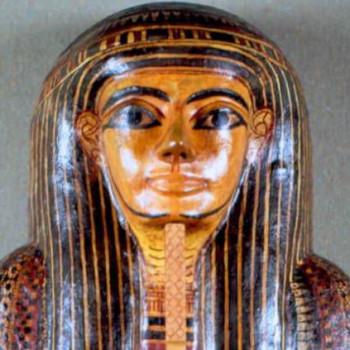 Head of an Egyptian Mummy coffin