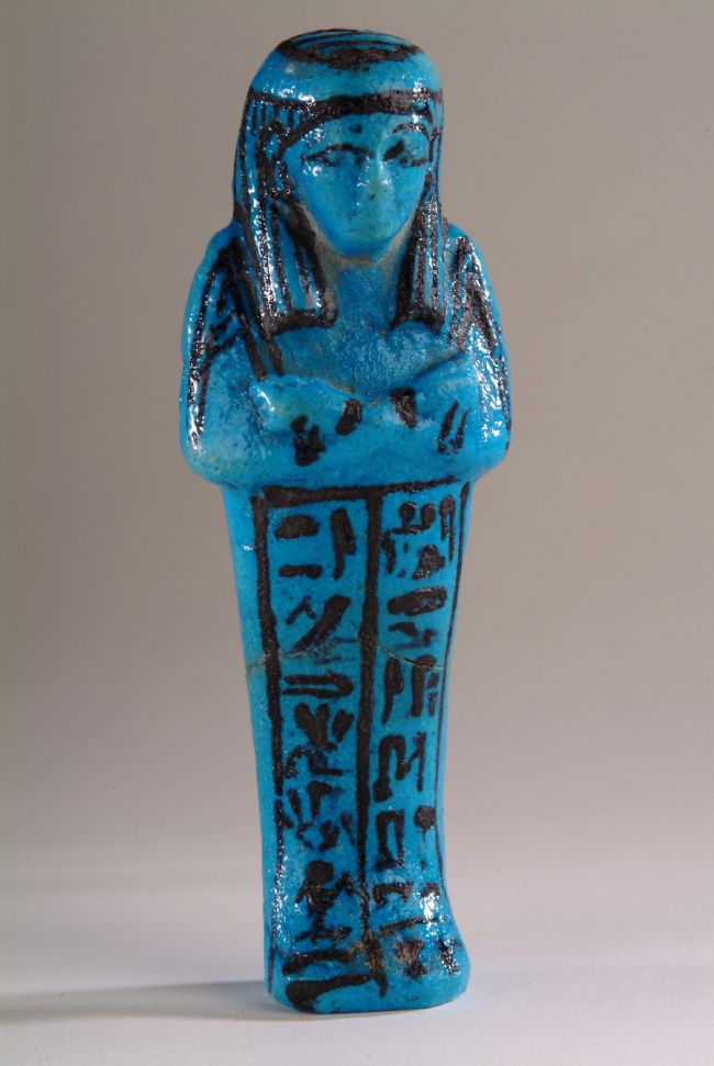 Turquoise glazed small figurine