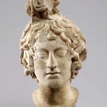 An Ancient Greek bust of Medusa the Gorgon