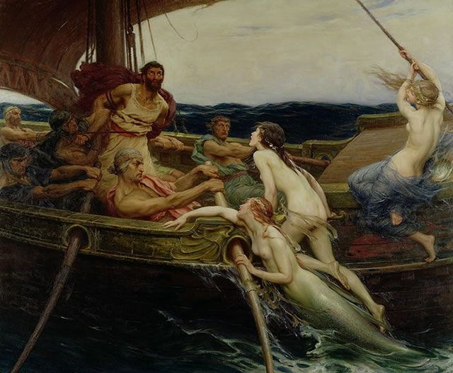 Herbert Draper - Ulysses and The Sirens 1909
