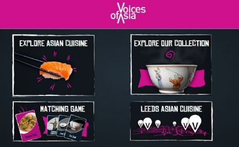 Voices of Asia - screen shot from Asian food interactive