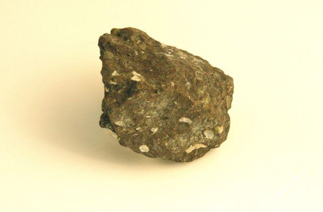 a dark, fine-grained rock