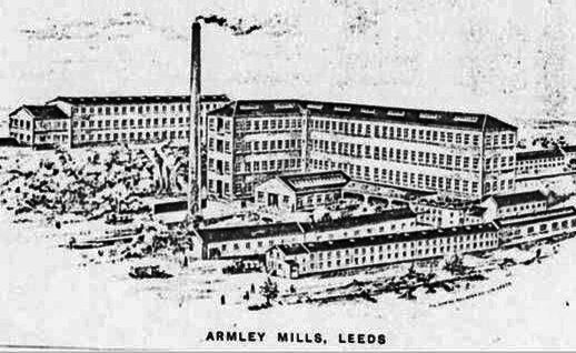 Engraving of Armley Mills in the 1800s