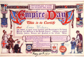 Empire Day 1915 Certificate