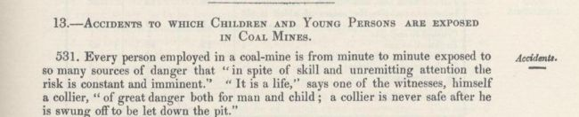 1842 Commission text on accidents in coal mines