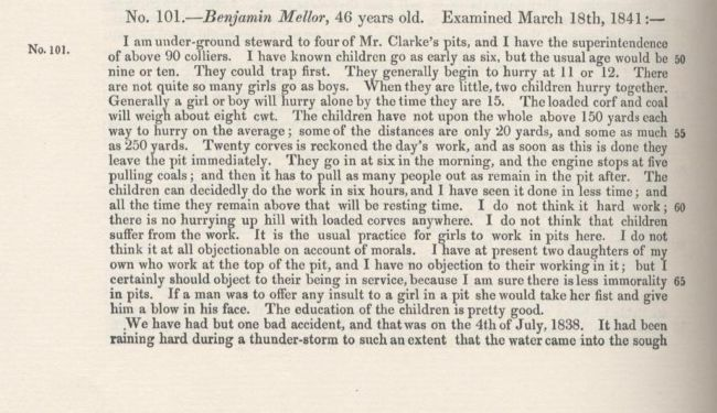 1842 Commission Evidence recounting a mining accident in 1938 (1 of 2)