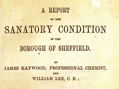 Cover of 1848 Sanatory Conditions in Sheffield Report