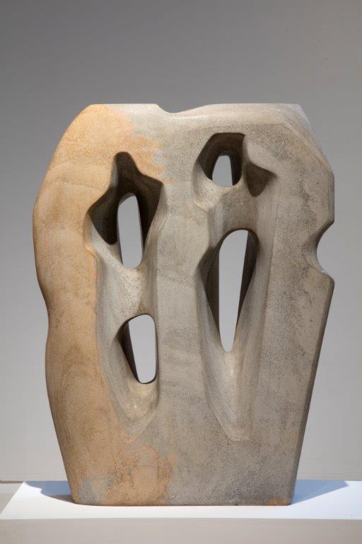 Hieroglyph, sculpture,1953, Ancaster stone by Barbara Hepworth