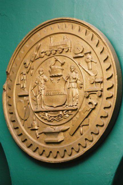 Photograph of a plaster plaque © Leeds Industrial Museum