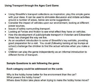 How to use Transport Through Ages card game