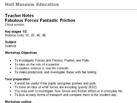 forces and friction science show