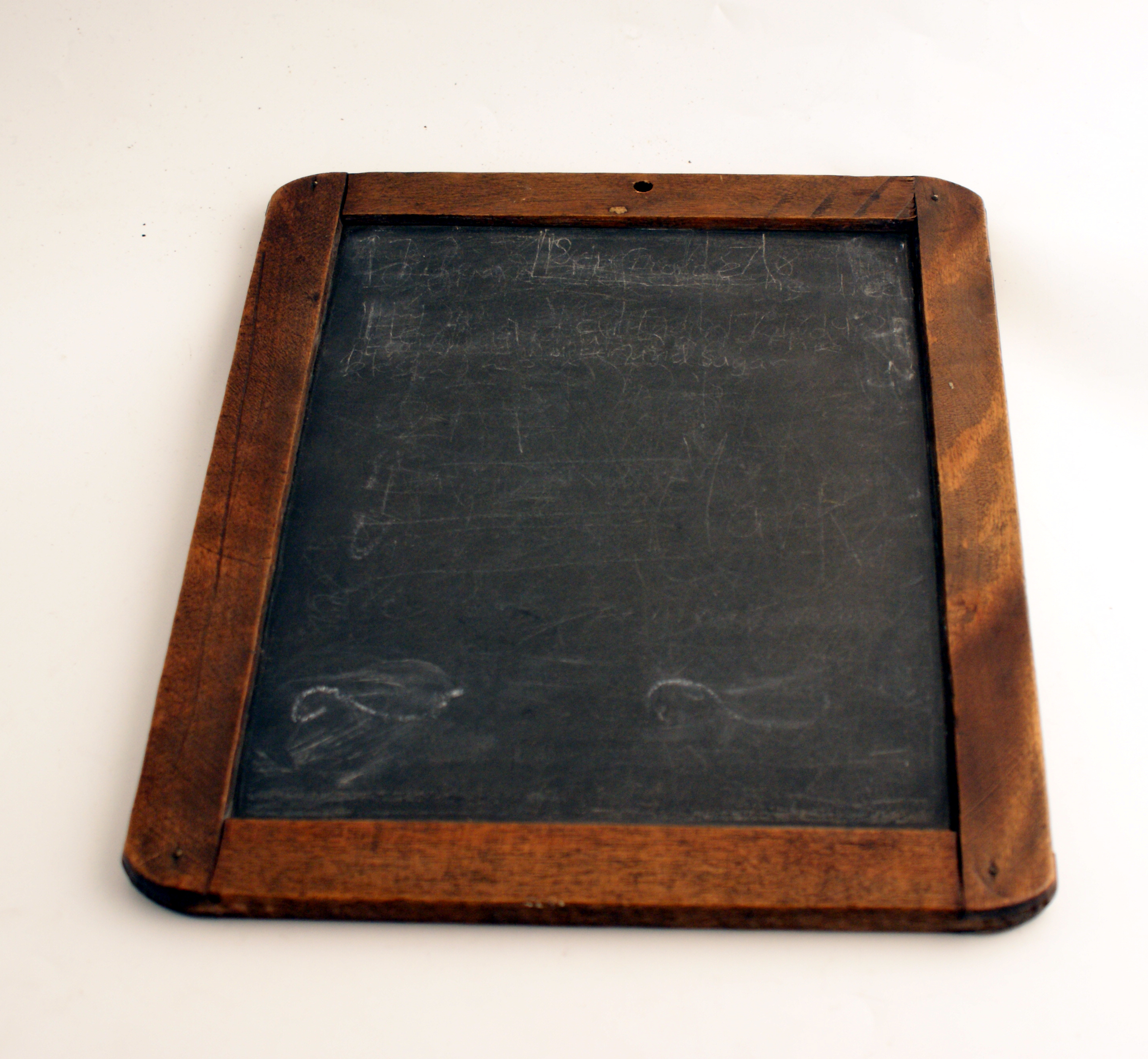 Victorian School Slate with wooden border