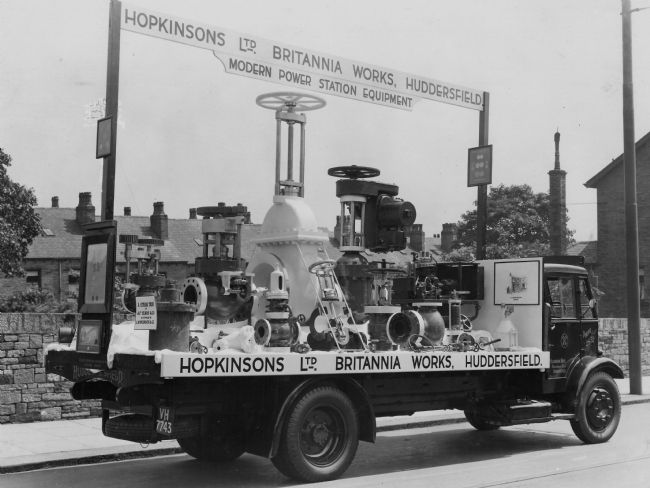 Photo of a lorry from Hopkinsons in Huddersfield displaying modern power station equipment
