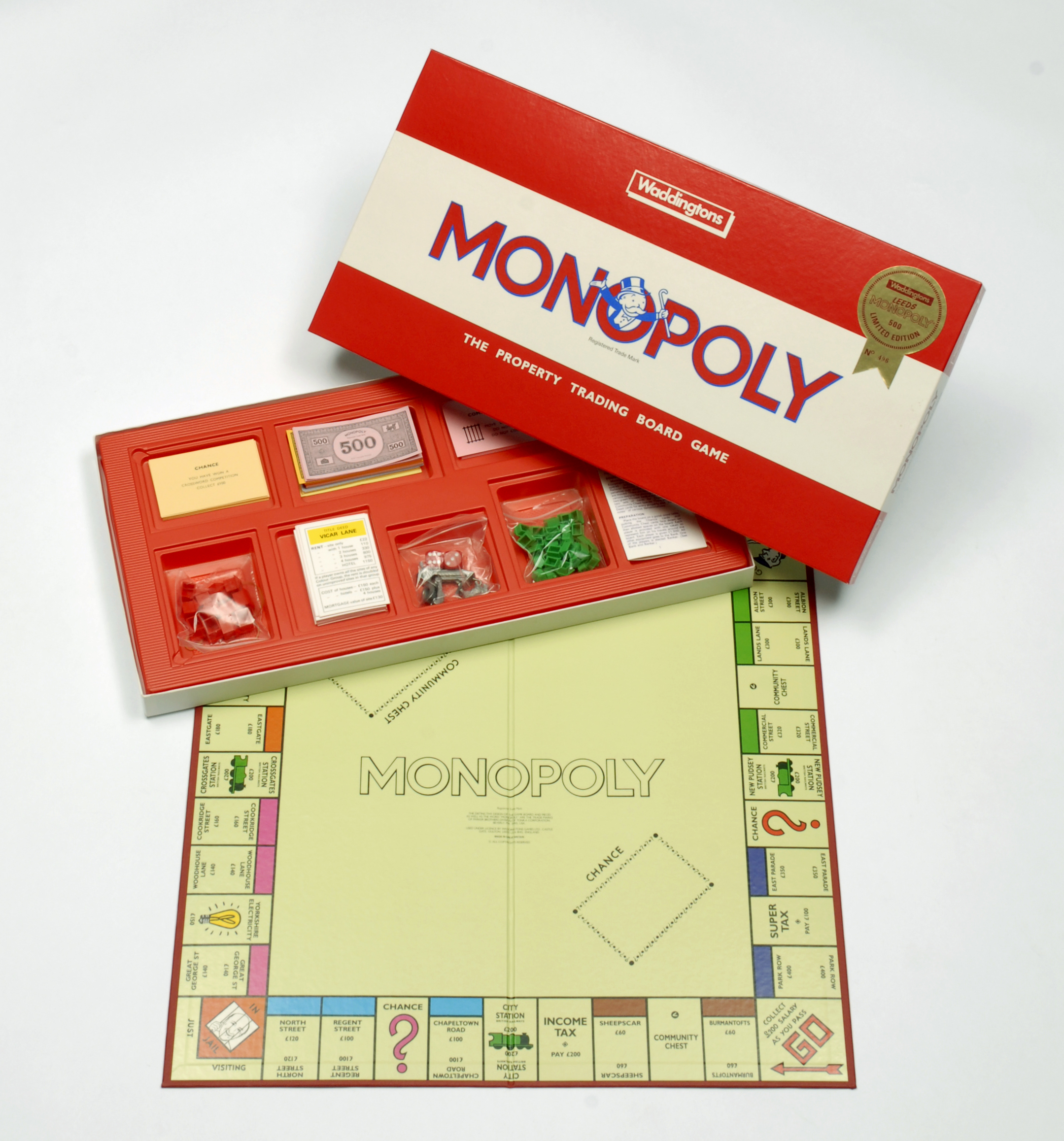 Leeds Monopoly set with street names from the city.