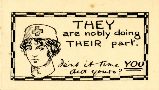 Recruitment card included in packets of cigarettes
