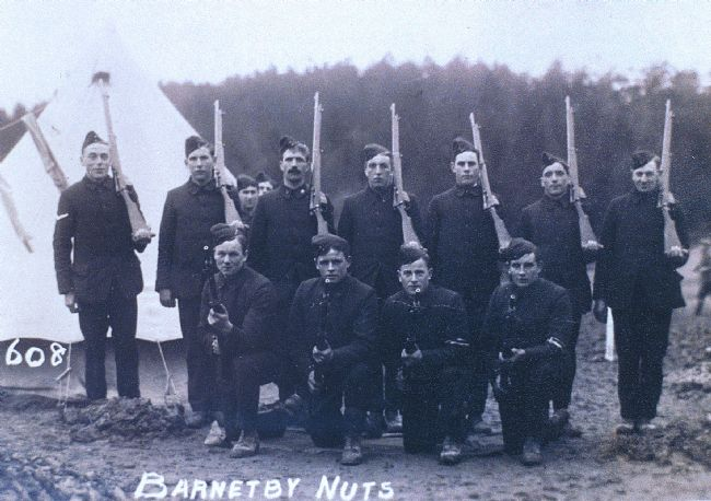 New army recruits in North Lincolnshire, 1914