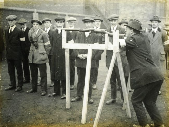 Recruits to the 10th Battalion East Yorkshire Regiment (Hull Pals) in training
