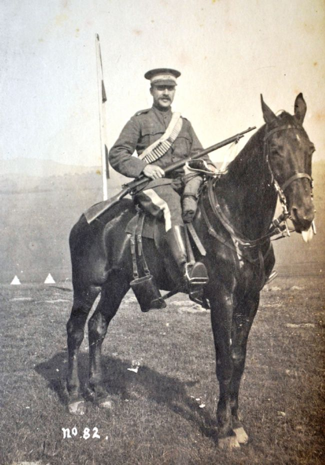Charles Hohenrein in cavalry officer uniform of the East Riding Yeomanry c.1905